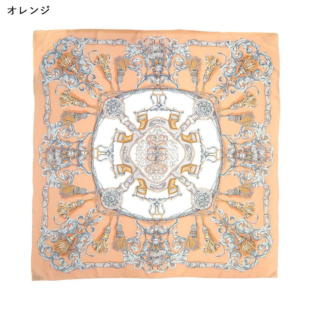 タッセル&オーナメント(MM4-387) Marcaオリジナル 大判 シルクツイル スカーフの画像2