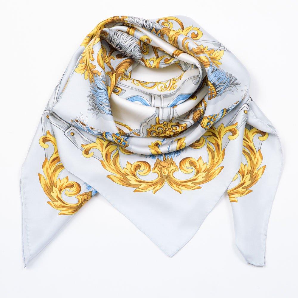 タッセル&オーナメント(MM4-387) Marcaオリジナル 大判 シルクツイル スカーフの画像3