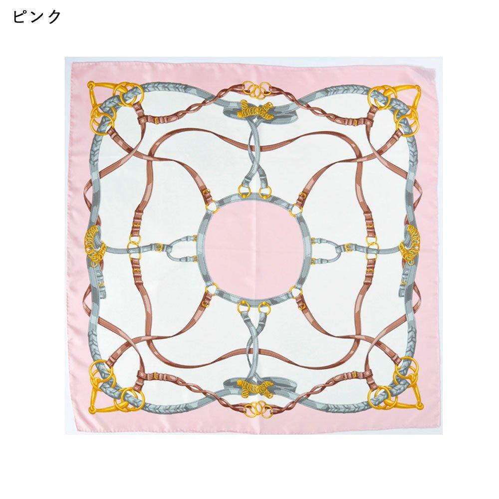 ベルト&ビット(CEK-090) Marcaオリジナル 大判 シルクツイル スカーフの画像2
