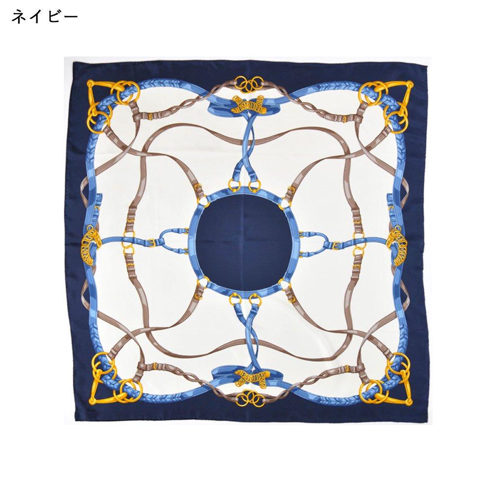 ベルト&ビット(CEK-090) Marcaオリジナル 大判 シルクツイル スカーフの画像3