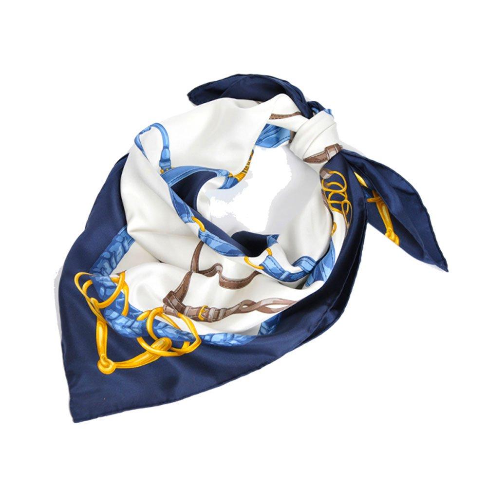 ベルト&ビット(CEK-090) Marcaオリジナル 大判 シルクツイル スカーフの画像4