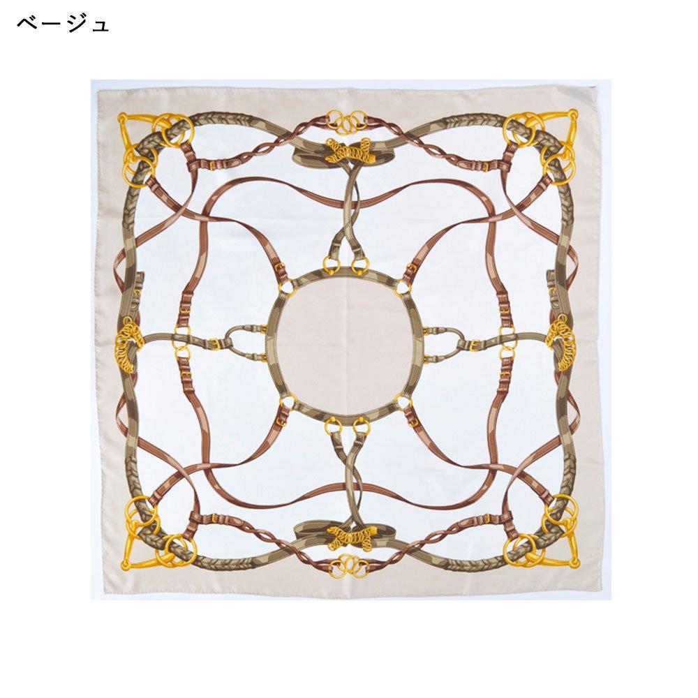 ベルト&ビット(CEK-090) Marcaオリジナル 大判 シルクツイル スカーフの画像5