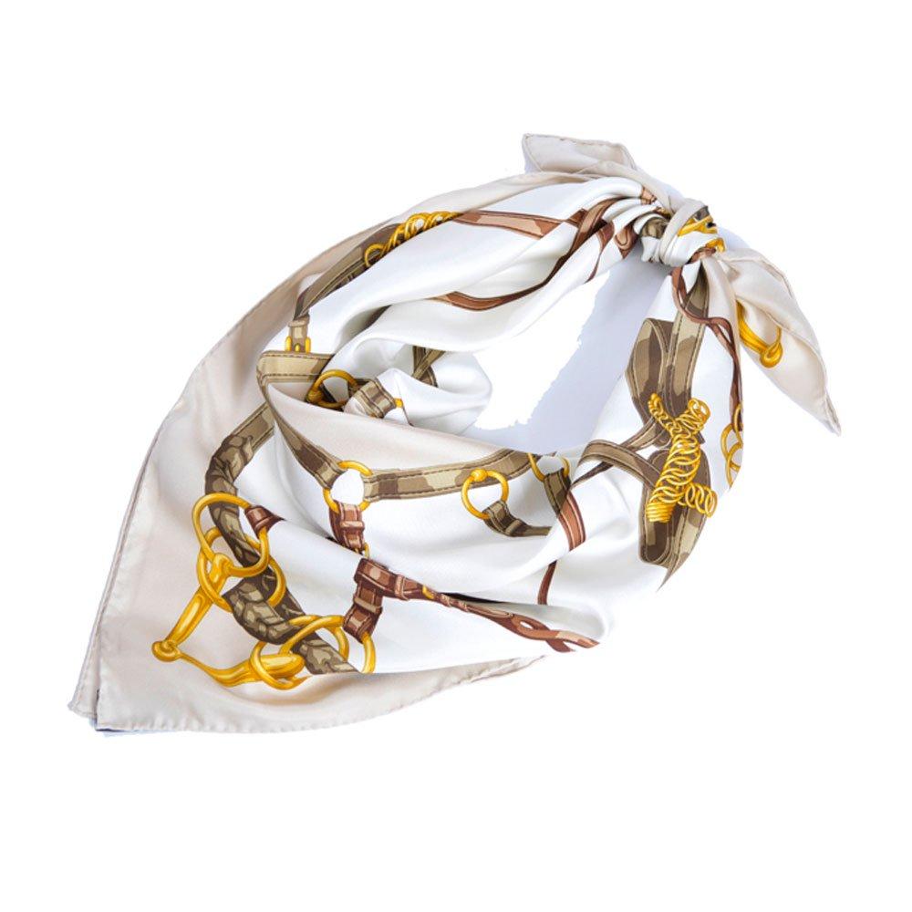 ベルト&ビット(CEK-090) Marcaオリジナル 大判 シルクツイル スカーフの画像6