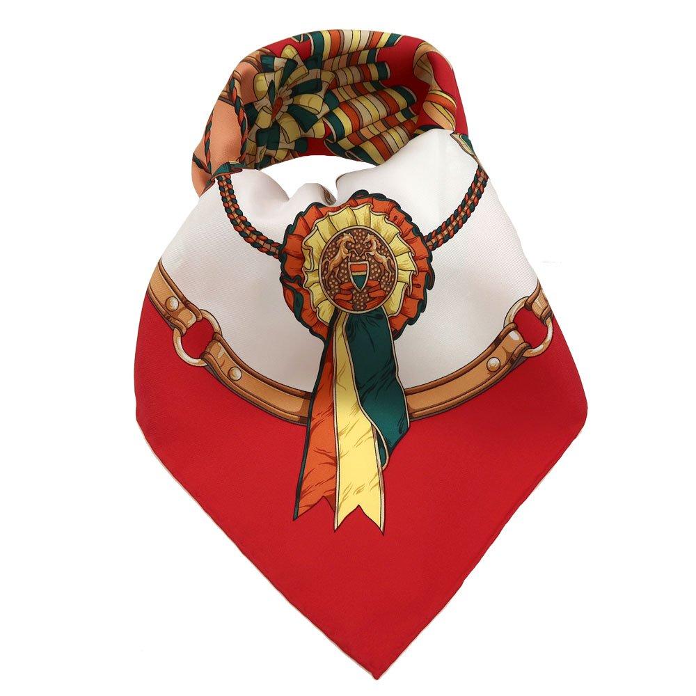 勲章とリボン(CM4-082) Marcaオリジナル 大判 シルクツイル スカーフの画像1