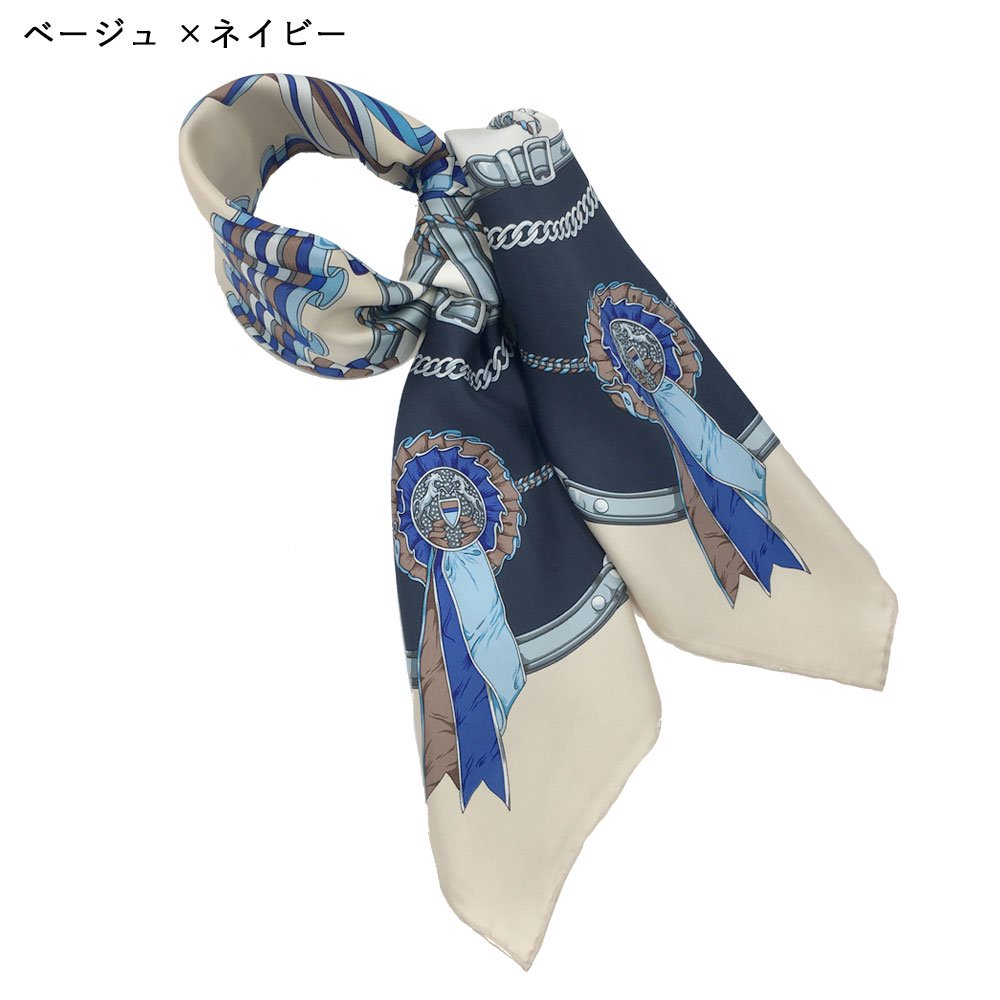 勲章とリボン(CM4-082) Marcaオリジナル 大判 シルクツイル スカーフの画像4