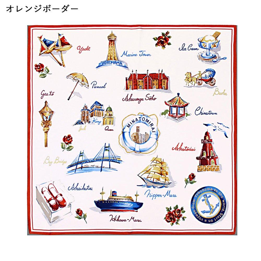 YOKOHAMA(FEH-267) 伝統横濱スカーフ 小判 シルクツイル スカーフの画像2