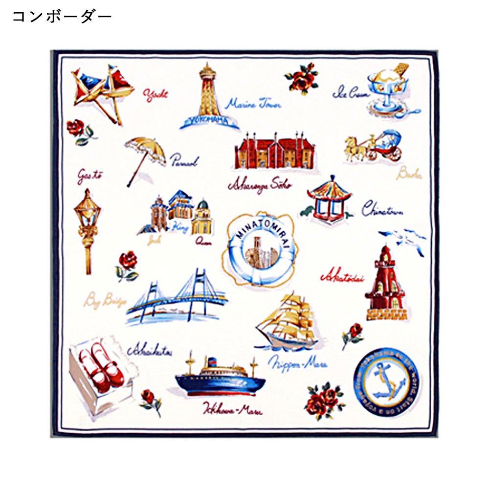 YOKOHAMA(FEH-267) 伝統横濱スカーフ 小判 シルクツイル スカーフの画像4