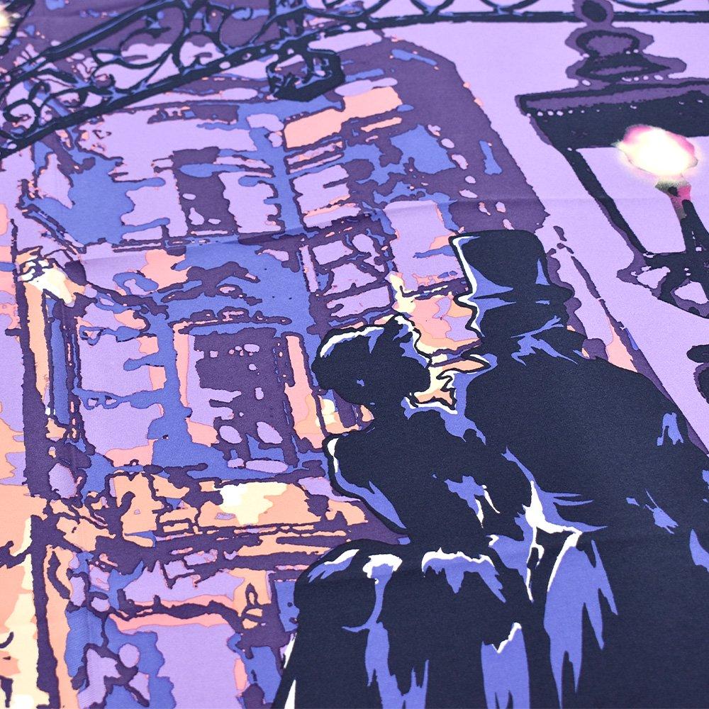 馬車道/ガス灯(FMH-227) 伝統横濱スカーフ 小判 シルクスカーフの画像4