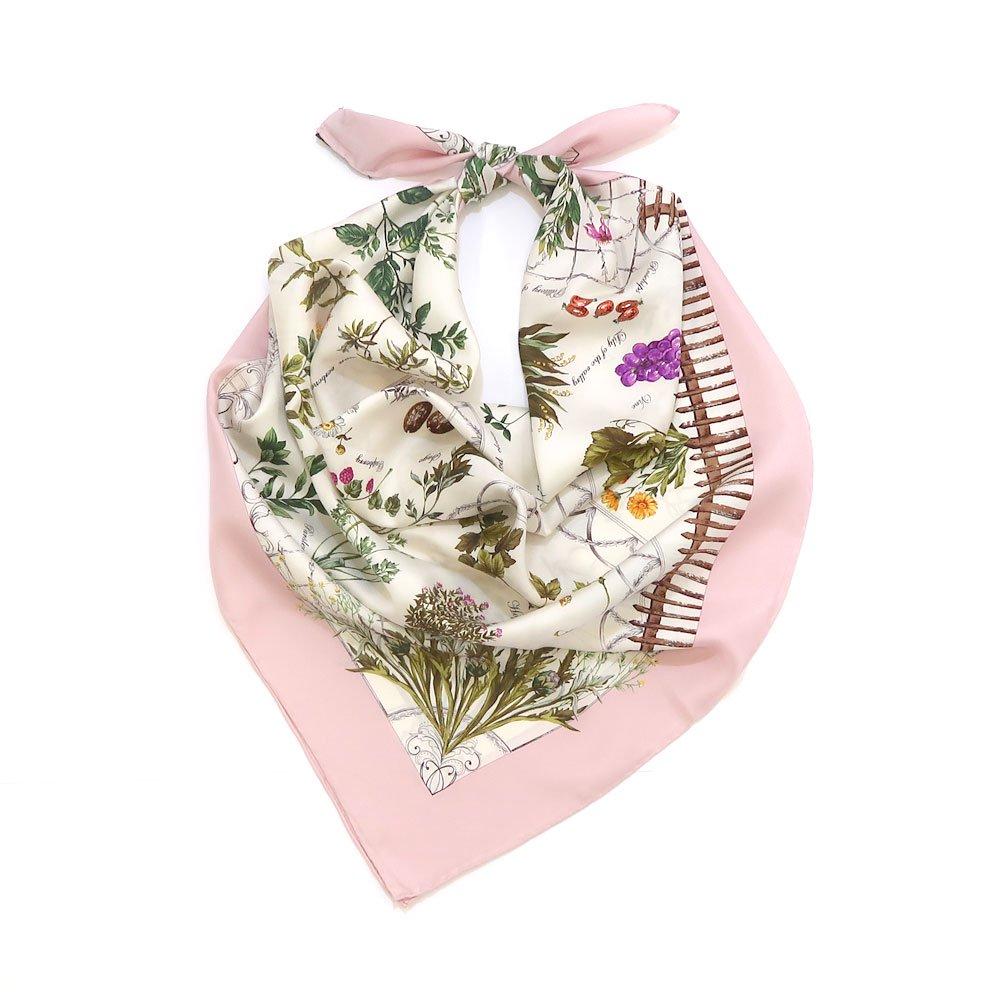 ハーブガーデン(CEG-105) 伝統横濱スカーフ 大判 シルクツイル スカーフの画像1