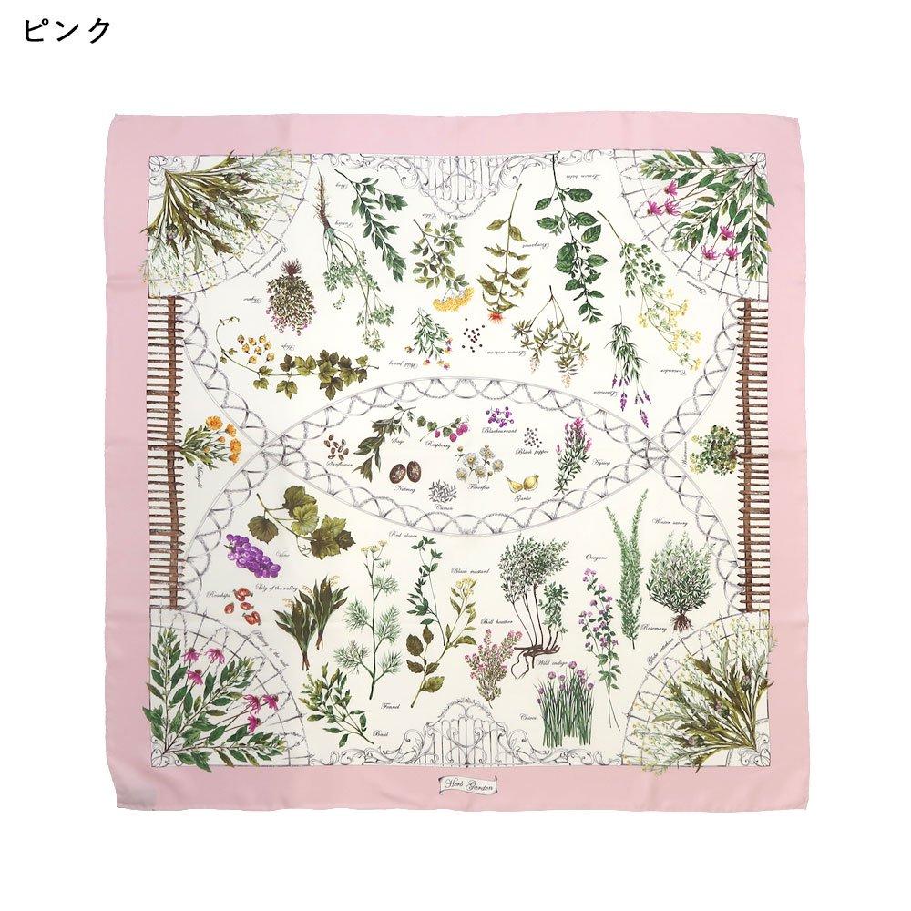 ハーブガーデン(CEG-105) 伝統横濱スカーフ 大判 シルクツイル スカーフの画像2