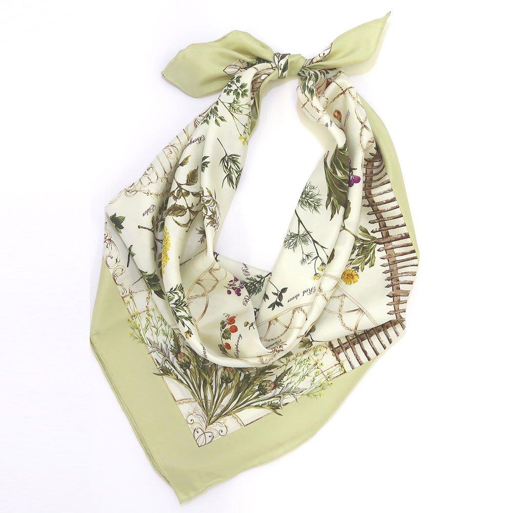 ハーブガーデン(CEG-105) 伝統横濱スカーフ 大判 シルクツイル スカーフの画像4
