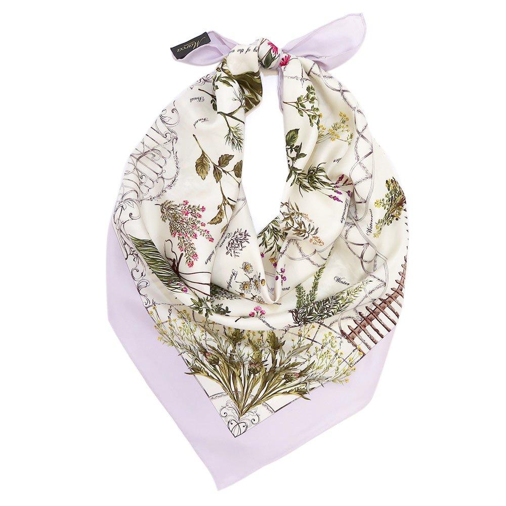 ハーブガーデン(CEG-105) 伝統横濱スカーフ 大判 シルクツイル スカーフの画像6