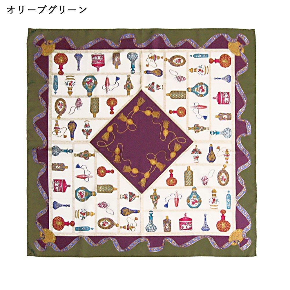 香水瓶(CM5-329) 伝統横濱スカーフ 大判 シルクツイル スカーフの画像2
