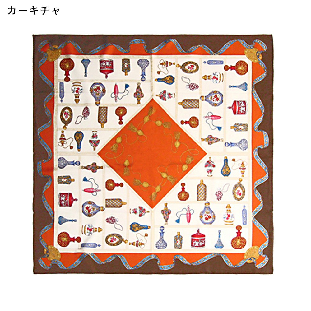 香水瓶(CM5-329) 伝統横濱スカーフ 大判 シルクツイル スカーフの画像4