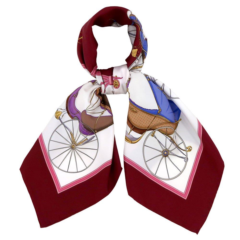 四輪馬車(CEE-225) 伝統横濱スカーフ 大判 シルクツイル スカーフの画像1