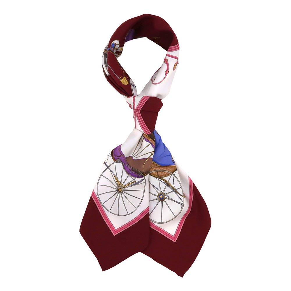 四輪馬車(CEE-225) 伝統横濱スカーフ 大判 シルクツイル スカーフの画像3