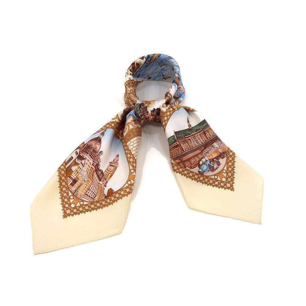 赤レンガ倉庫(CMB-230) 伝統横濱スカーフ 大判 シルクツイル スカーフの画像2