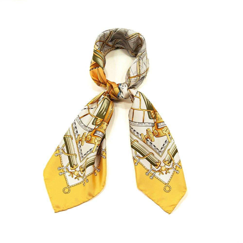 日本丸(CM5-287) 伝統横濱スカーフ 大判 シルクツイル スカーフ