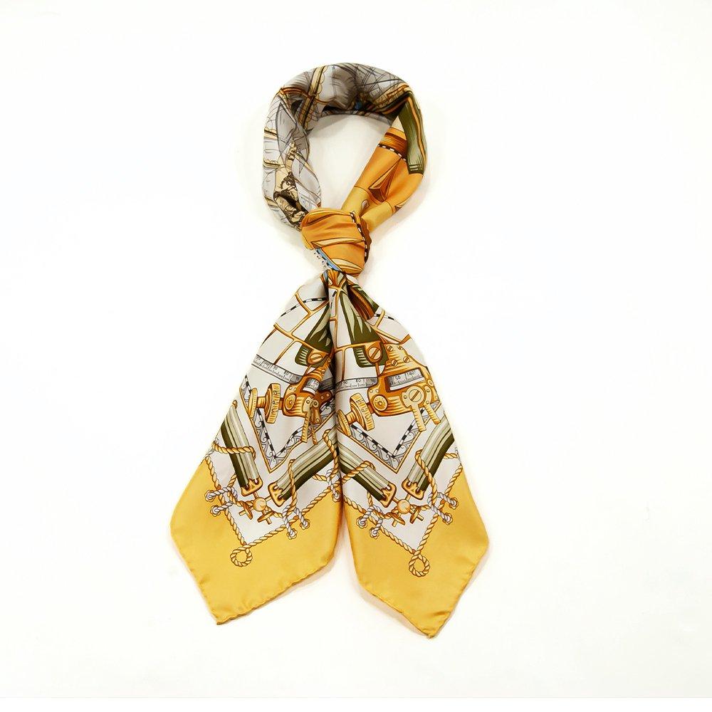 日本丸(CM5-287) 伝統横濱スカーフ 大判 シルクツイル スカーフの画像3