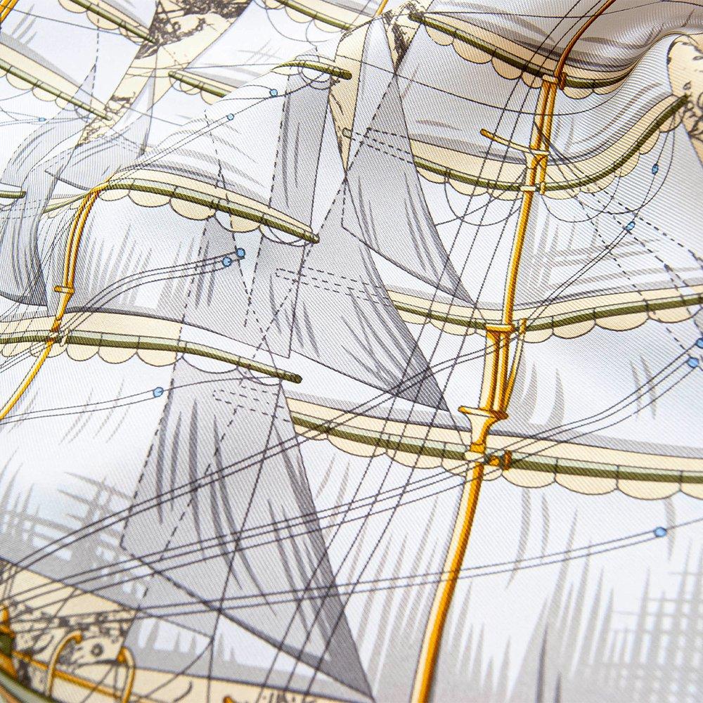 日本丸(CM5-287) 伝統横濱スカーフ 大判 シルクツイル スカーフの画像4