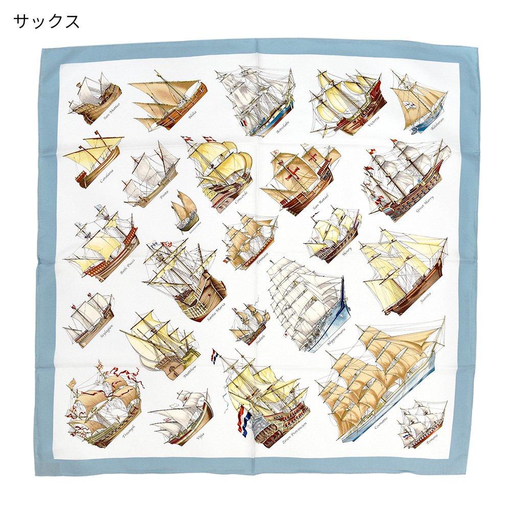 帆船パレード(CEE-226) 伝統横濱スカーフ 大判 シルクツイル スカーフの画像2