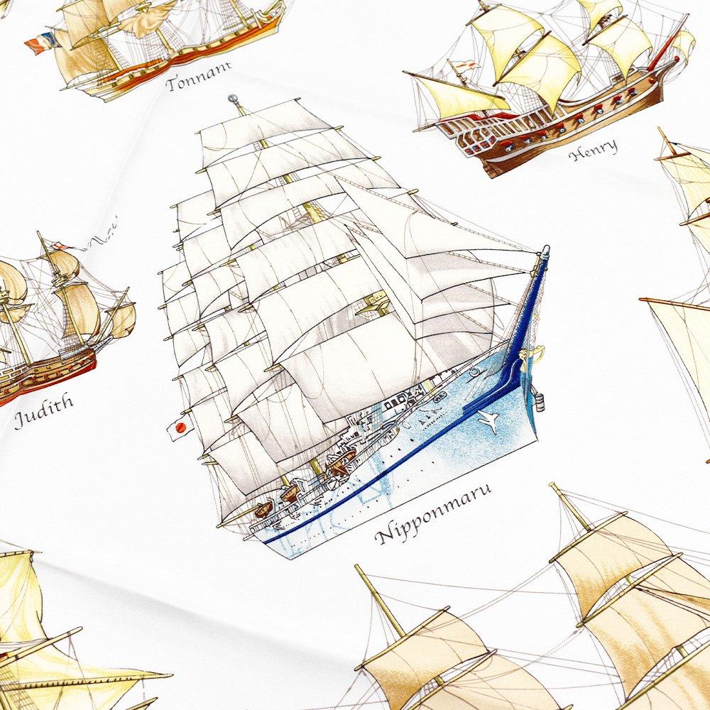 帆船パレード(CEE-226) 伝統横濱スカーフ 大判 シルクツイル スカーフの画像3