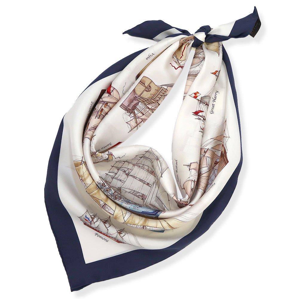 帆船パレード(CEE-226) 伝統横濱スカーフ 大判 シルクツイル スカーフの画像6