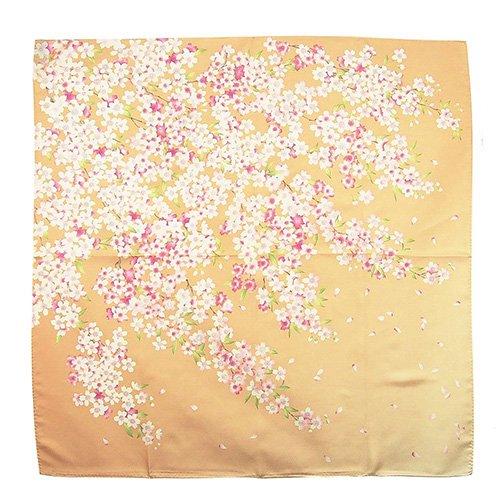 櫻花(CFD-020) 伝統横濱スカーフ 大判 シルクツイル スカーフ