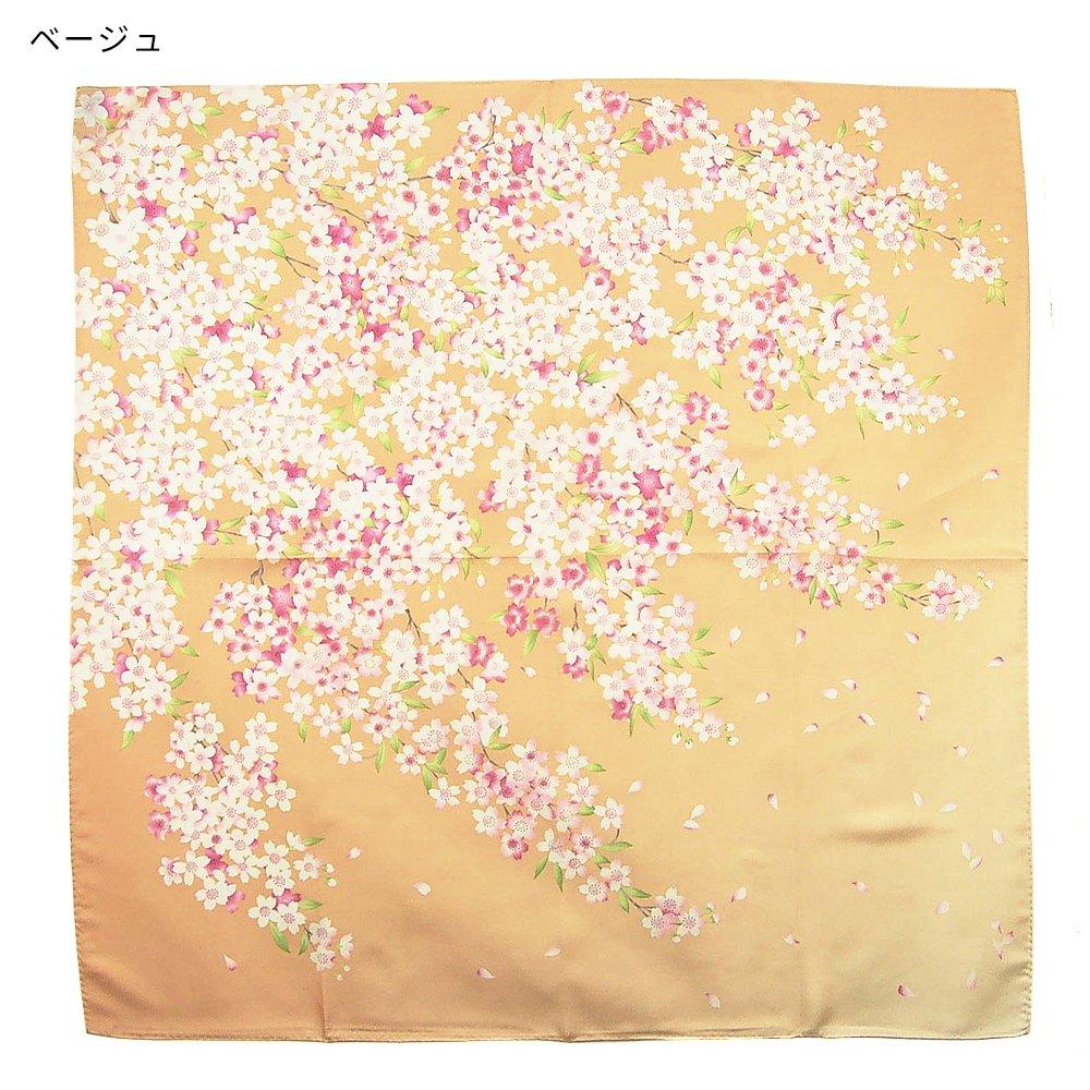 櫻花(CFD-020) 伝統横濱スカーフ 大判 シルクツイル スカーフの画像1