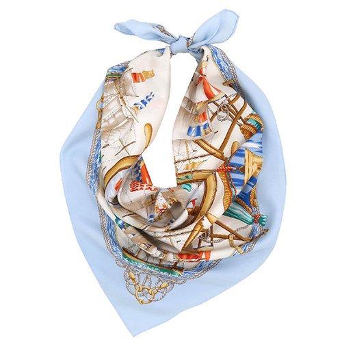 帆船(CM9-339) 伝統横濱スカーフ 大判 シルクツイル スカーフ
