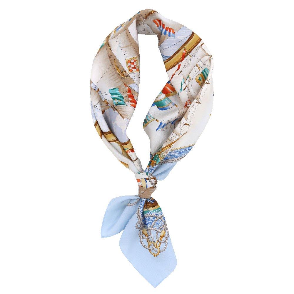 帆船(CM9-339) 伝統横濱スカーフ 大判 シルクツイル スカーフの画像2