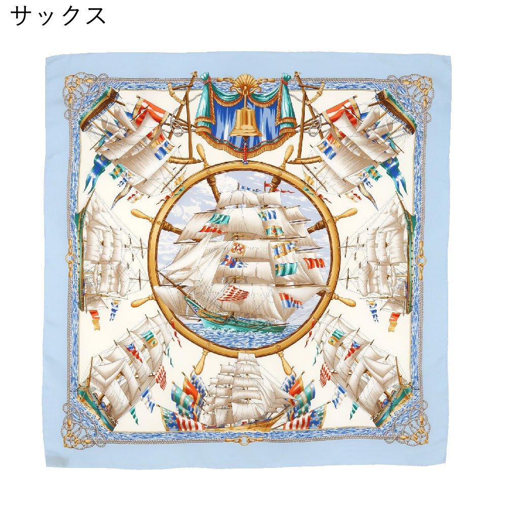 帆船(CM9-339) 伝統横濱スカーフ 大判 シルクツイル スカーフの画像3
