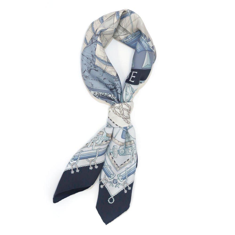 日本丸(CM5-287Y) 伝統横濱スカーフ 大判 シルクツイル スカーフの画像2