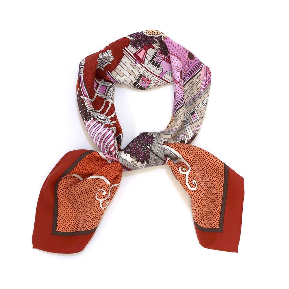ヨコハマシティ(CM6-872) 伝統横濱スカーフ 大判 シルクツイル スカーフ