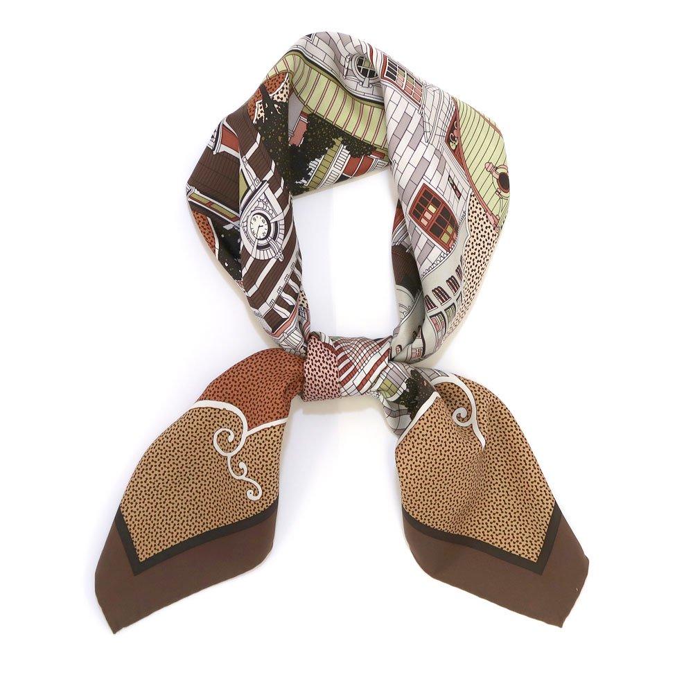ヨコハマシティ(CM6-872) 伝統横濱スカーフ 大判 シルクツイル スカーフの画像3
