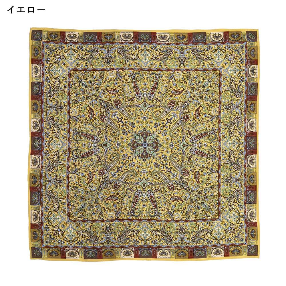 カシミール21(CM4-321) Marcaオリジナル 大判 シルクツイル スカーフの画像2