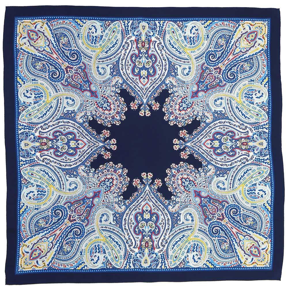 カシミール78(CM4-578) Marcaオリジナル 大判 シルクツイル スカーフ