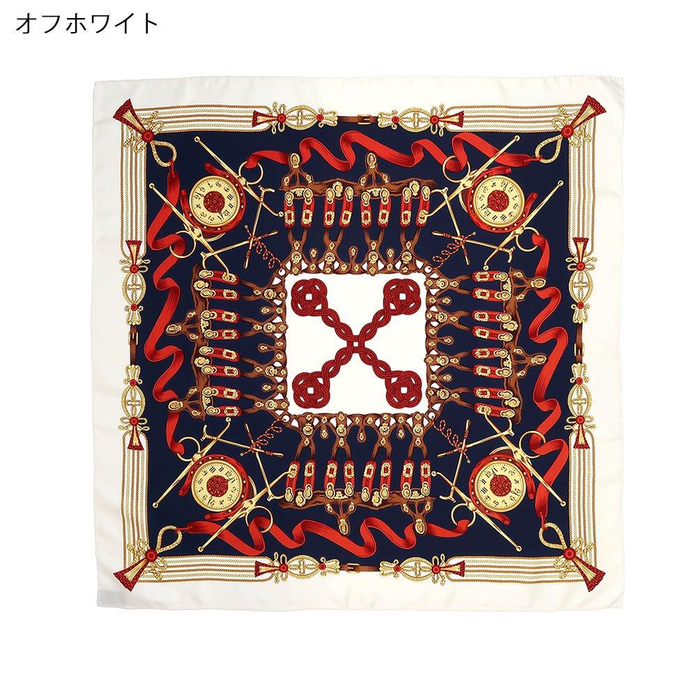 リボンとビット (CM4-311H) Marcaオリジナル 大判 シルクツイル スカーフの画像1