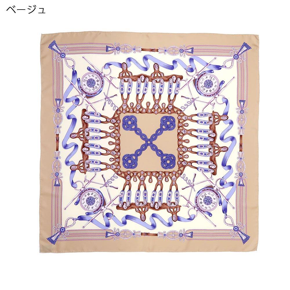 リボンとビット (CM4-311H) Marcaオリジナル 大判 シルクツイル スカーフの画像2