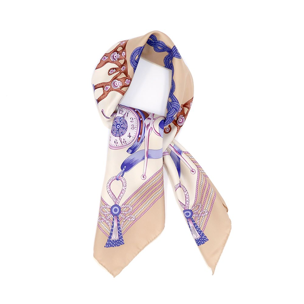 リボンとビット (CM4-311H) Marcaオリジナル 大判 シルクツイル スカーフ