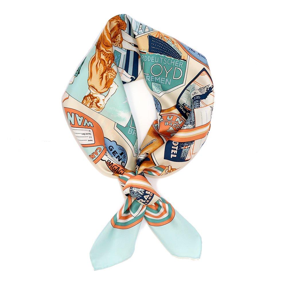 ボヤージュ(CM7-056) Marcaオリジナル 大判 シルクツイル スカーフ
