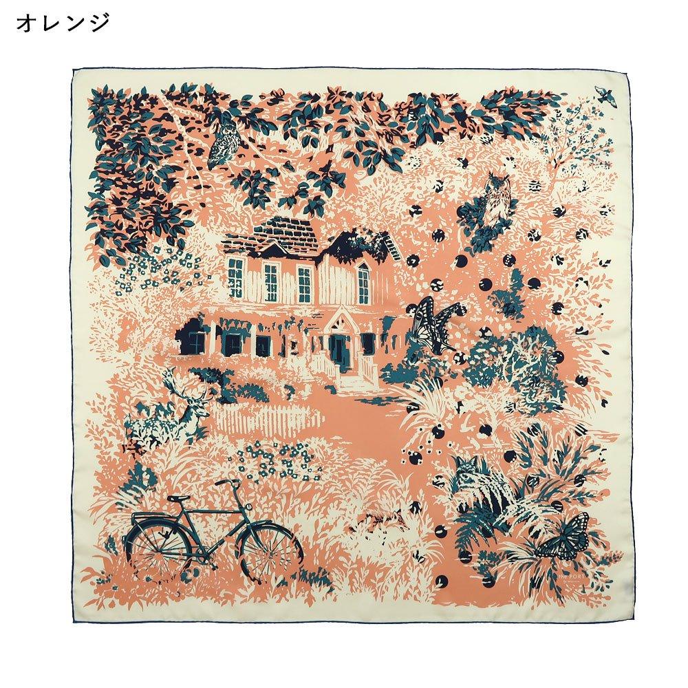 GARDEN(CMQ-157) 【the PORT by marca】大判 シルクツイル スカーフの画像4