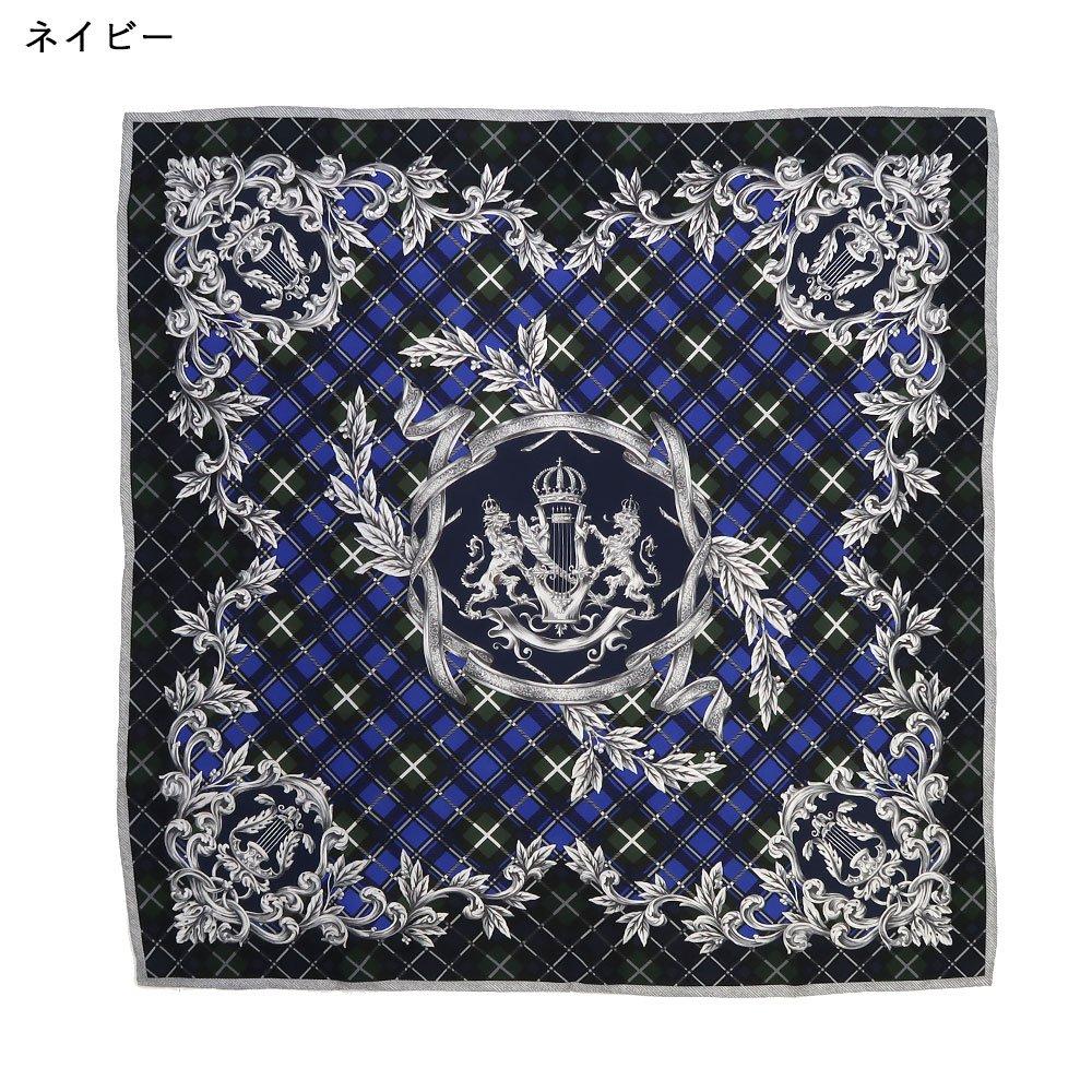 オーナメントチェック(CM2-199) Marcaオリジナル 大判 シルクツイル スカーフの画像1