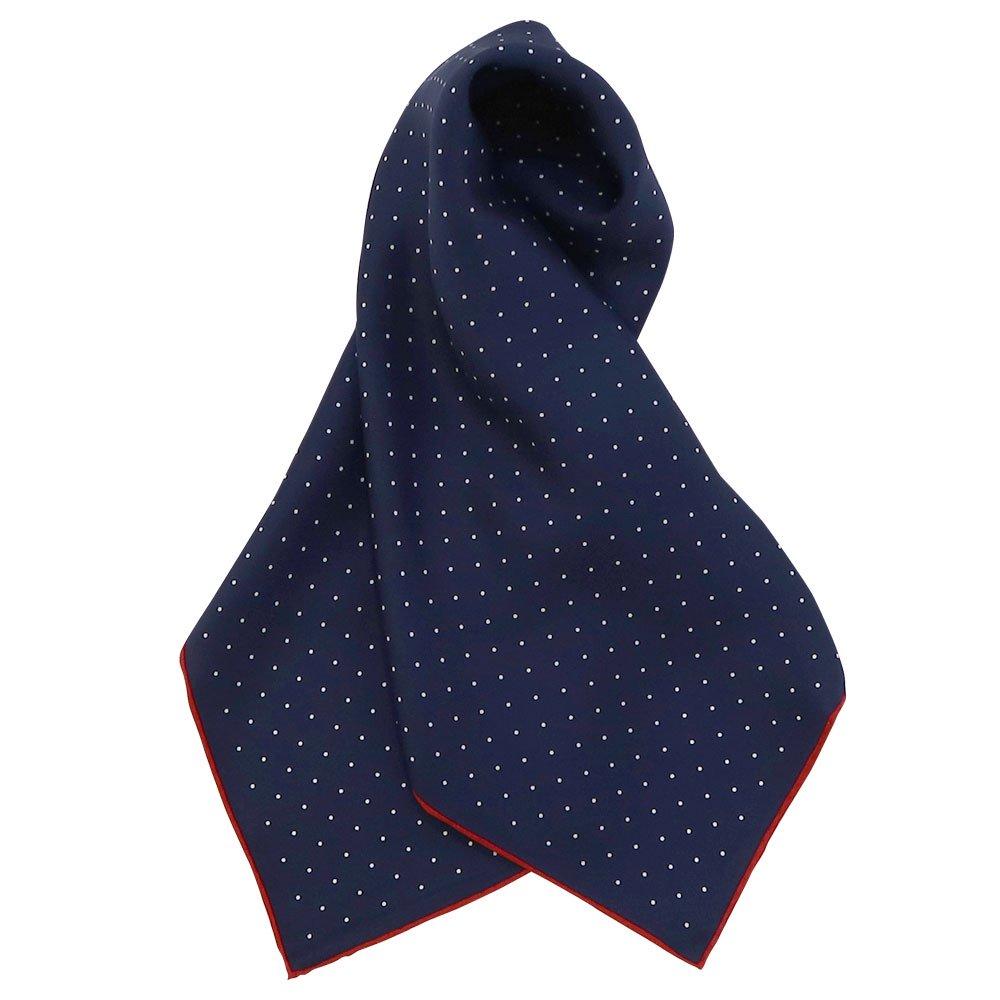 ピンドット(FOR-006) Marcaオリジナル 小判 シルクツイル スカーフの画像10
