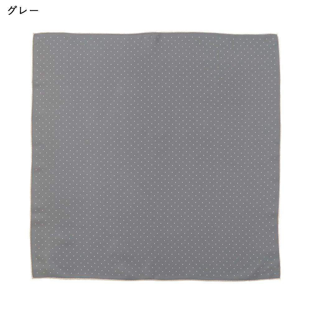 ピンドット(FOR-006) Marcaオリジナル 小判 シルクツイル スカーフの画像5
