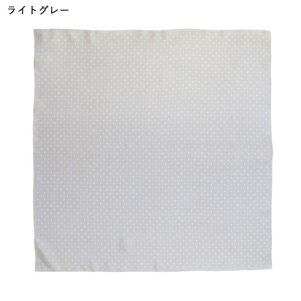 ピンドット(FOR-006) Marcaオリジナル 小判 シルクツイル スカーフの画像7