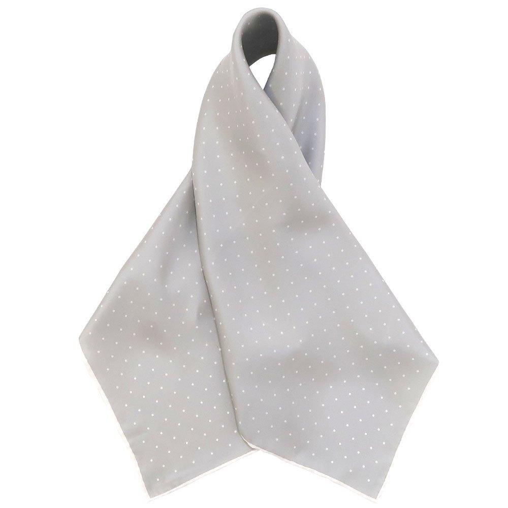 ピンドット(FOR-006) Marcaオリジナル 小判 シルクツイル スカーフの画像8