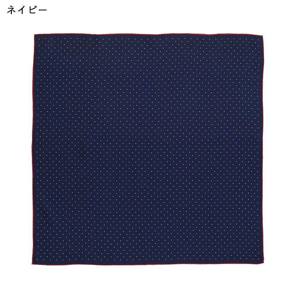 ピンドット(FOR-006) Marcaオリジナル 小判 シルクツイル スカーフの画像9