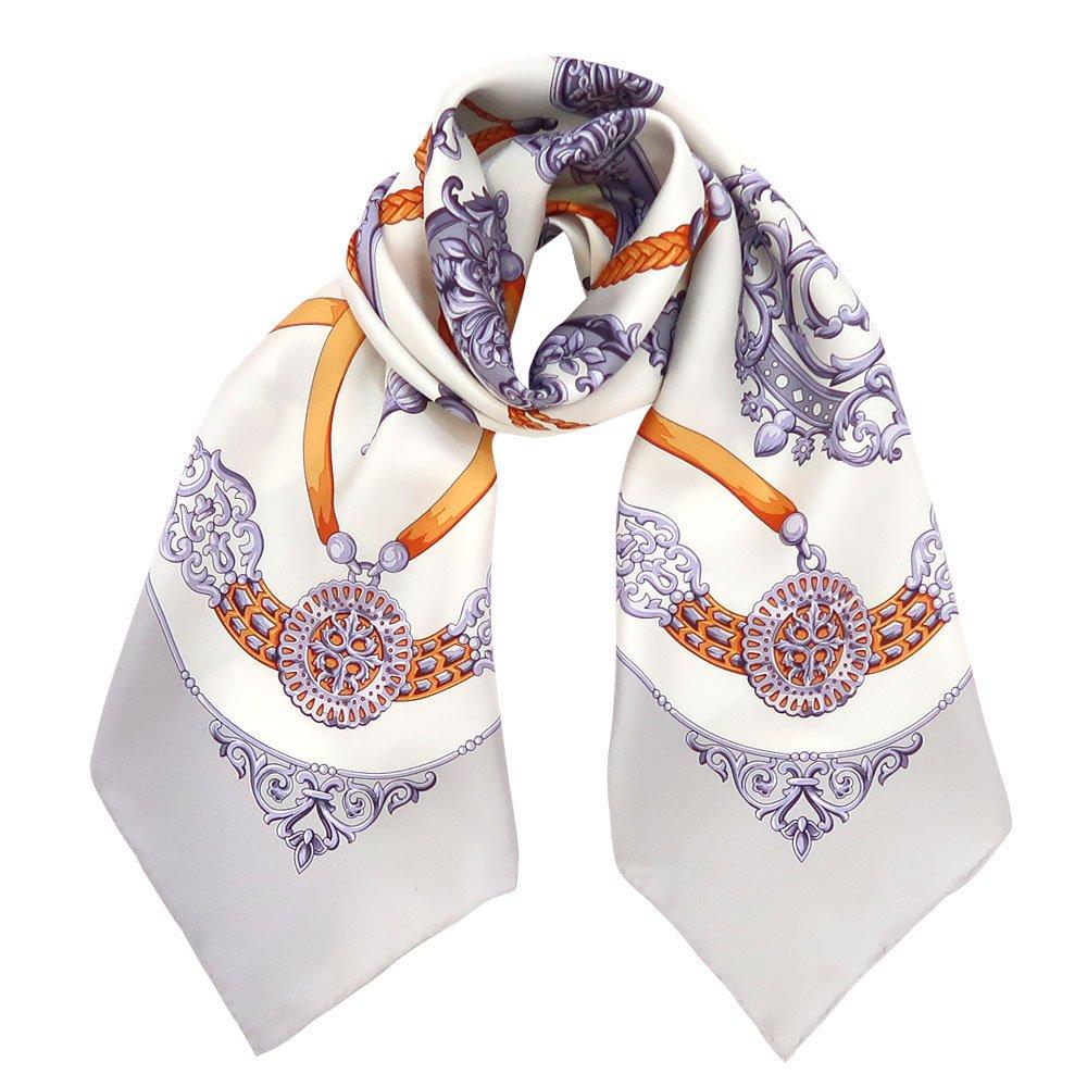 オーナメントキー(CEQ-086)  伝統横濱スカーフ 大判 シルクツイル スカーフの画像1