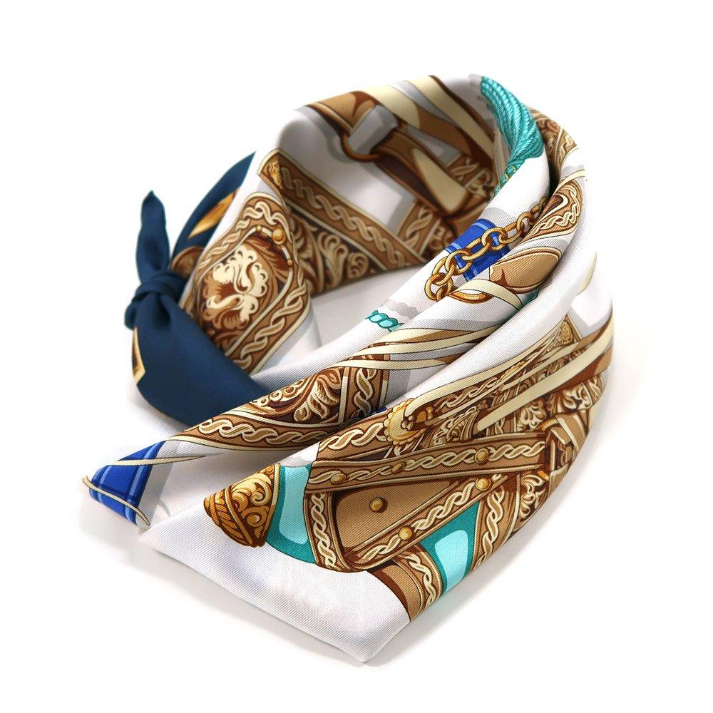 クラシックサドル(CEQ-095) 伝統横濱スカーフ 大判 シルクツイル スカーフの画像1